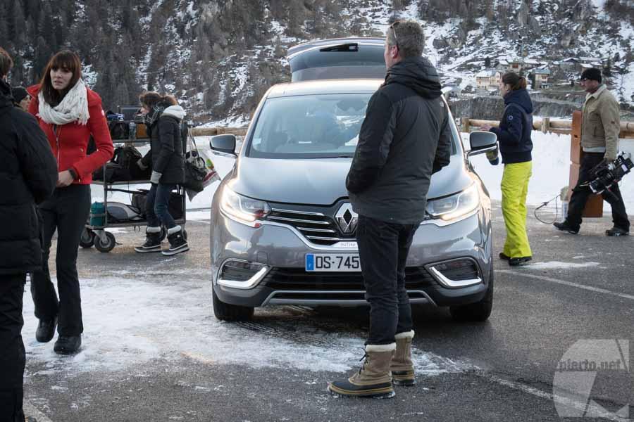 Tournage drone vidéo Renault, à Tignes