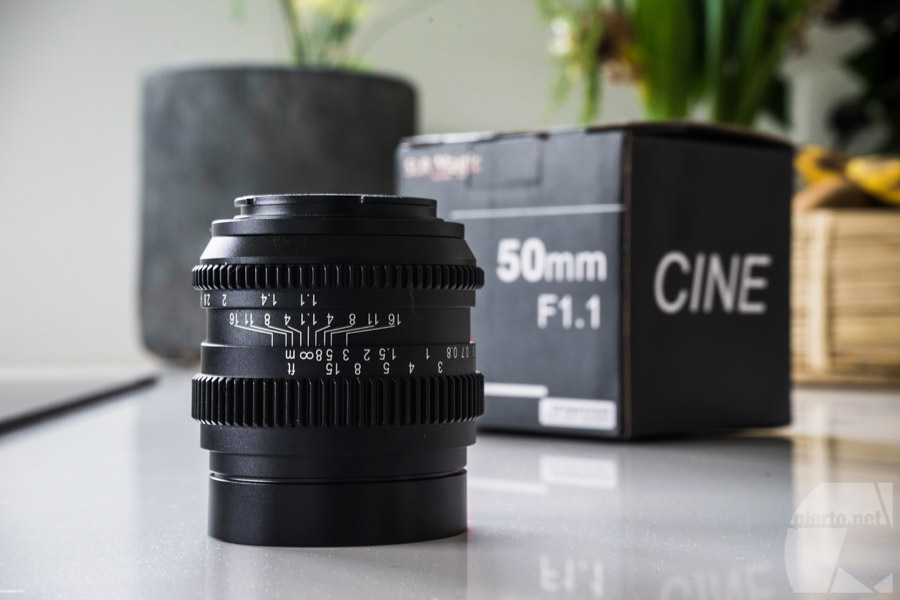 Le SLR Magic 50mm F1.1 CINE, belle construction tout métal à l'ancienne